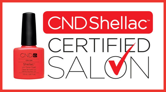 CND Shellac Certified Salon logo